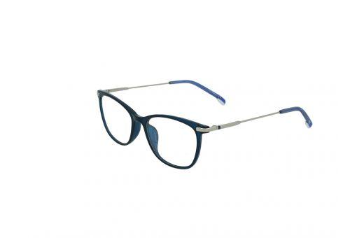 משקפי ראייה Ultemate opt מסגרת אולטם בגוון כחול מבריק וזרוע גן מטאל