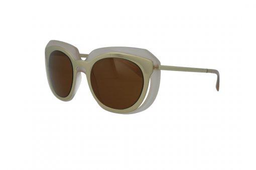 משקפי שמש DOLCE&GABBANA בסגנון OverSize מרובע שקוף עם גוון ניוד ועדשות בגוון חום