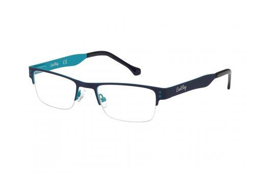 משקפי ראייה Cool Ray מסגרת מרובעת בגוון כחול כהה מבחוץ ותכלת מבפנים ואפונים מתכווננים להתאמה ונוחות מירביים