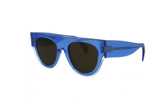 משקפי שמש CELINE בסגנון OverSize עגול בגוון כחול שקוף ועדשות בגוון חום