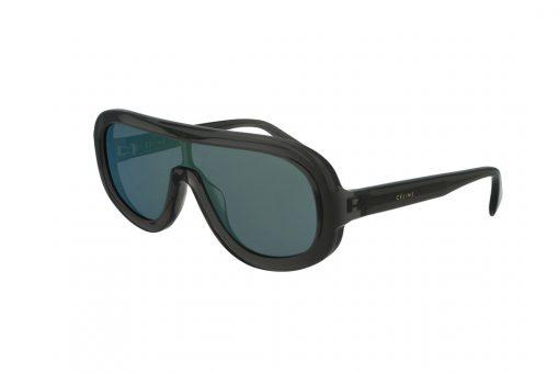 משקפי שמש CELINE בסגנון OverSize בגוון אפור שקוף ועדשות בגוון כחול בהיר