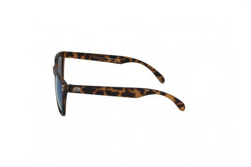 משקפי שמש לילדים Erroca Eyewear בסגנון מרובע בגוון חום מנומר ועדשות בגוון מראה טורקיז