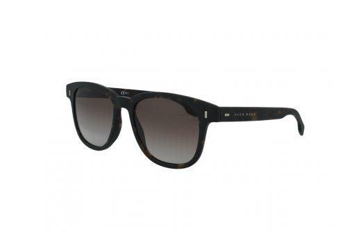 משקפי שמש BOSS בסגנון מרובע בגוון חום מנומר ועדשות בגוון חום מדורג