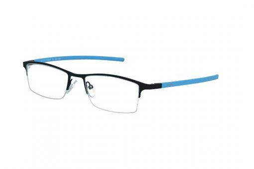 משקפי ראייה Cool Ray מסגרת מלבנית בגוון כחול ושחור ואפונים מתכווננים להתאמה ונוחות מירביים