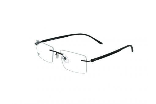 משקפי ראייה Cool Ray מסגרת מרובעת בגוון שחור ואפונים מתכווננים להתאמה ונוחות מירביים