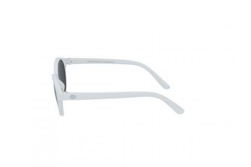 משקפי שמש לילדים Erroca Eyewear בסגנון עגול בגוון לבן ועדשות בגוון מראה כסף
