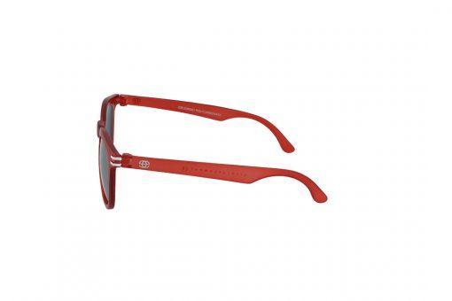 משקפי שמש לילדים Erroca Eyewear בסגנון עגול בגוון אדום -כסף ועדשות בגוון מראה כסף