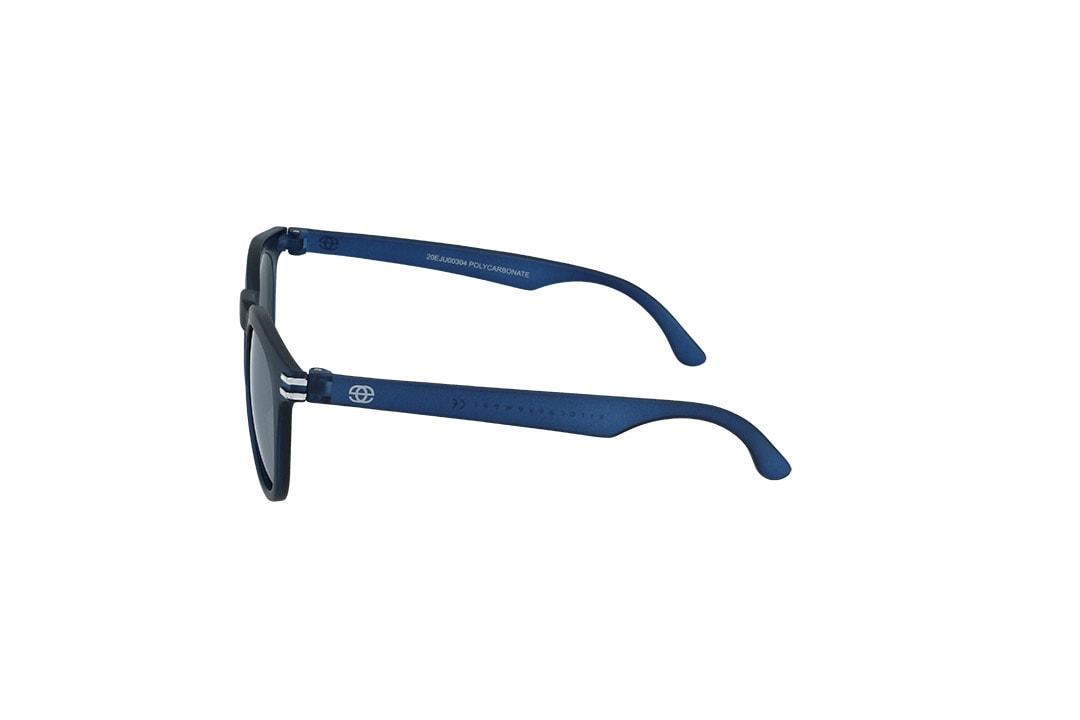 משקפי שמש לילדים Erroca Eyewear בסגנון עגול בגוון כחול ועדשות בגוון מראה כסף