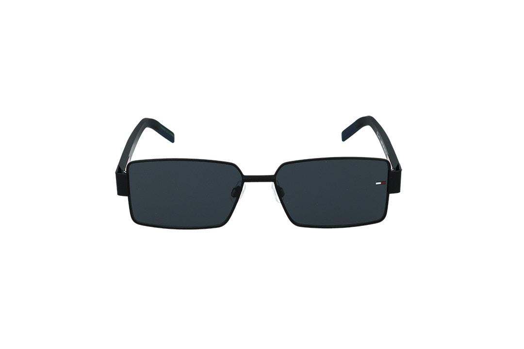 משקפי שמש Tommy Hilfiger בסגנון יוניסקס מרובע בגוון שחור ועדשות בגוון אפור כהה