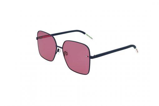 משקפי שמש Tommy Hilfiger פרפר בגוון שחור-לבן ועדשות בגוון ורוד