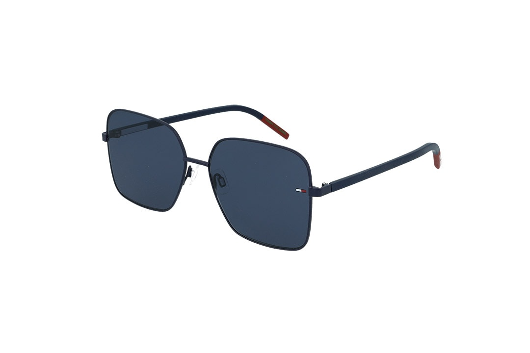 משקפי שמש Tommy Hilfiger פרפר בגוון כחול-אדום ועדשות בגוון כחול