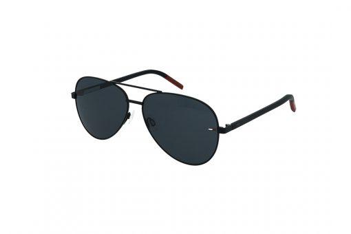 משקפי שמש Tommy Hilfiger בסגנון יוניסקס טייסים בגוון שחור-אדום ועדשות בגוון אפור כהה