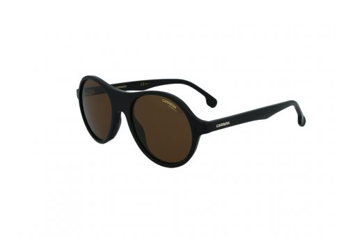 משקפי שמש CARRERA בסגנון עגול בגוון שחור ועדשות בגוון חום