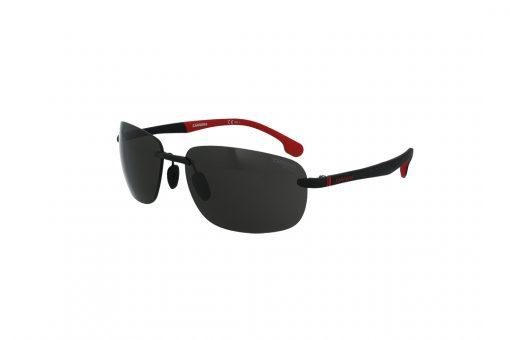 משקפי שמש CARRERA בסגנון מרובע בגוון שחור-אדום ועדשות בגוון אפור כהה
