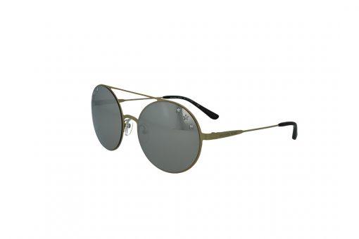 משקפי שמש Michael Kors בסגנון עגול בגוון זהב ועדשות בגוון מראה כסף