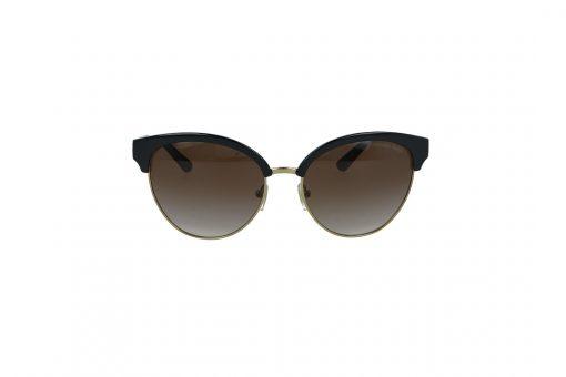 משקפי שמש Michael Kors בסגנון חתולי בגוון שחור-זהב ועדשות בגוון חום מדורג