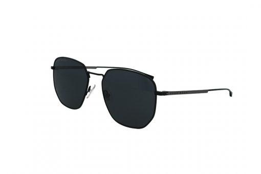 משקפי שמש BOSS בסגנון מרובע בגוון שחור-כסף ועדשות בגוון אפור כהה