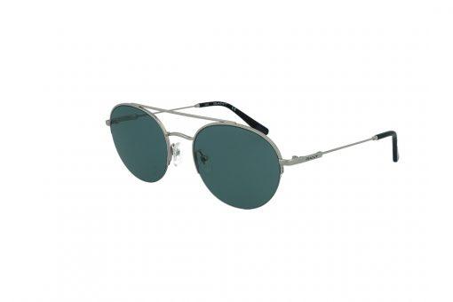 משקפי שמש GANT בסגנון עגול בגוון כסף ועדשות בגוון אפור-ירוק